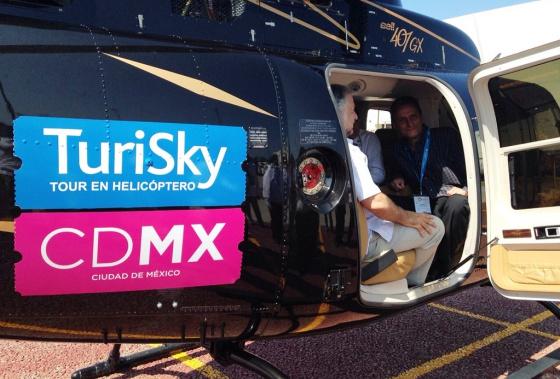 El helicóptero turístico de la Ciudad de México.