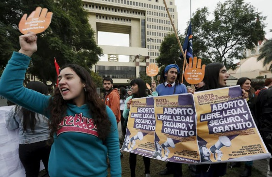Manifestaciones en Chile en defensa de un aborto legal