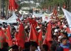Miles de marroquíes marchan ante la embajada sueca en Rabat