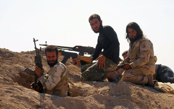 Rebeldes sirios en la provincia de Hama