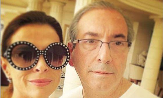 Eduardo Cunha y su mujer Cláudia Cruz.