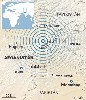Terremoto en Pakistán, Afganistán e India