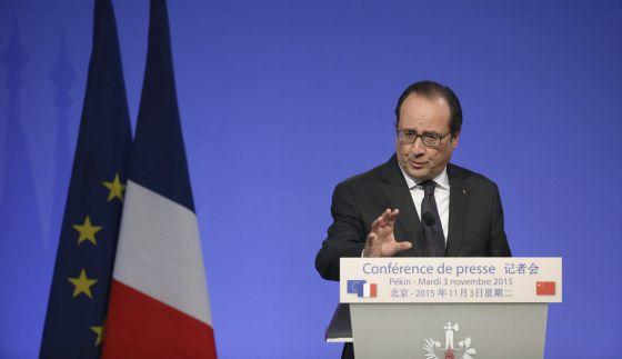 El presidente francés, François Hollande, en Pekín (China)
