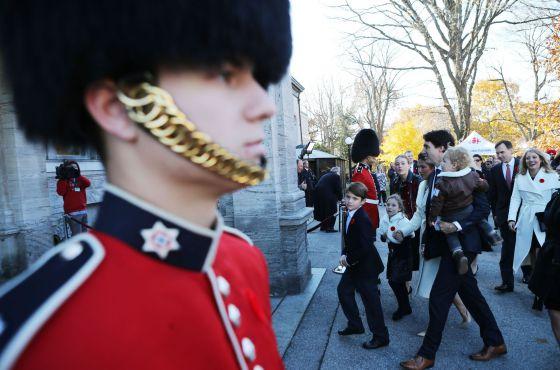 La familia Trudeau llega a la residencia del gobernador general