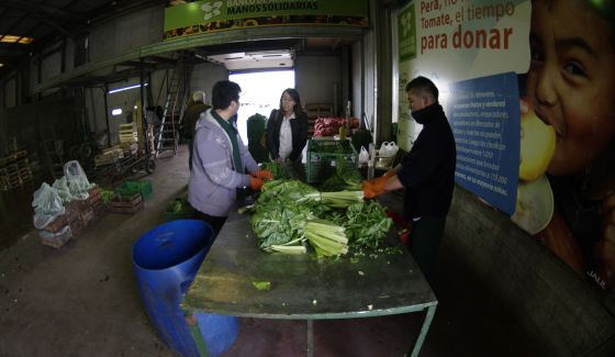 Un banco de alimentos en Argentina.