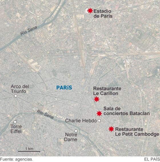 Más de 120 muertos en los atentados de París