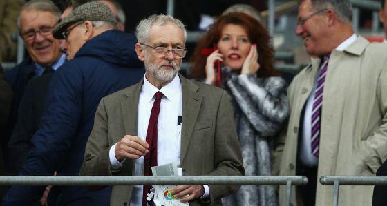 Jeremy Corbyn, en el partido Inglaterra-Francia.