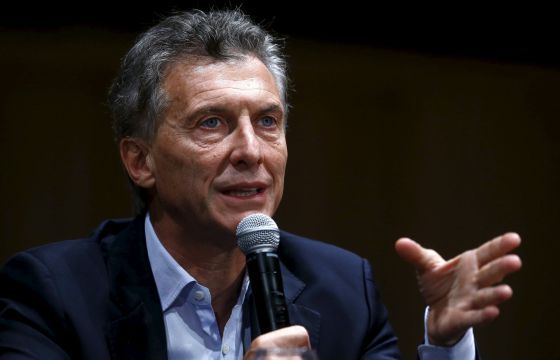 Mauricio Macri, este lunes, en su primera rueda de prensa como futuro presidente de Argentina.