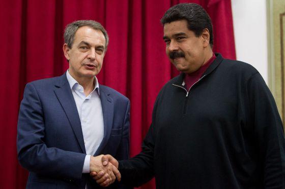 Zapatero durante un encuentro con Maduro en diciembre pasado.