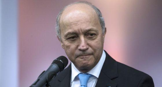 El ministro francés de Exteriores, Laurent Fabius, en la Cumbre del Clima.rn
