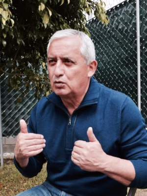 El expresidente Otto Pérez Molina en la cárcel militar Mariscal Zavala