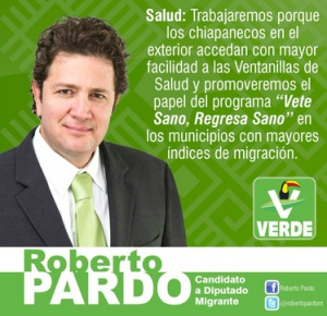Propaganda electoral de Roberto Pardo
