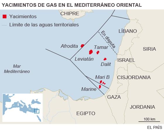 Energía. Gas: Turquía, Chipre, Israel... Líbano. 1450643166_110108_1450644762_sumario_normal