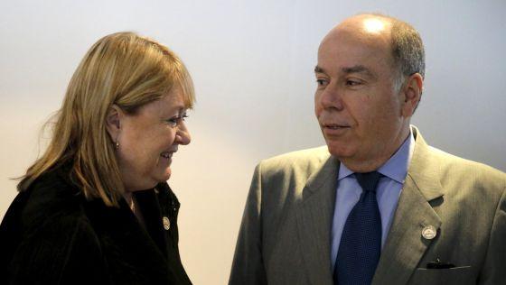 Los ministros de Relaciones Exteriores de Argentina, Susana Malcorra, y de Brasil, Mauro Vieira, este domingo en la cumbre de Mercosur en Asunción.