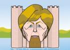 Merkel en el centro de Europa