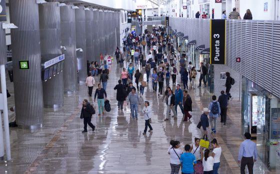 El Aeropuerto de la ciudad de México, en una imagen del 28 de diciembre.
