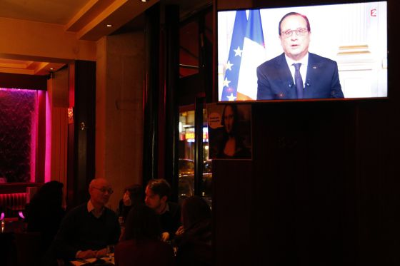 Discurso de Hollande en la televisión francesa.