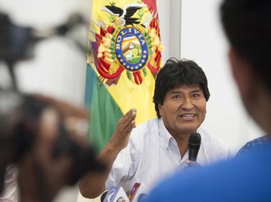 Morales habla en Santa Cruz el pasado jueves