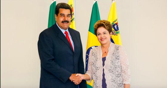 Nicolás Maduro y Dilma Rousseff en 2015.