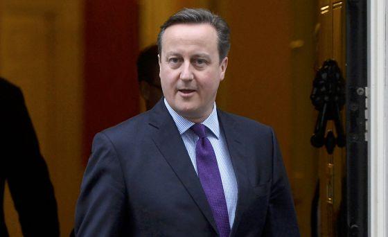 El primer ministro británico, David Cameron, este martes en Londres.