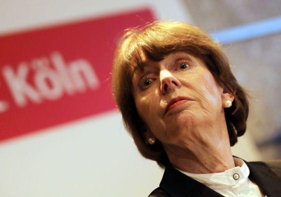 La alcaldesa de Colonia, Henriette Reker, el pasado 5 de enero en una rueda de prensa sobre la oleada de agresiones a mujeres.