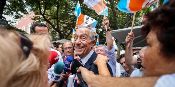 Marcelo Rebelo de Sousa, en un acto electoral el pasado octubre en Lisboa.