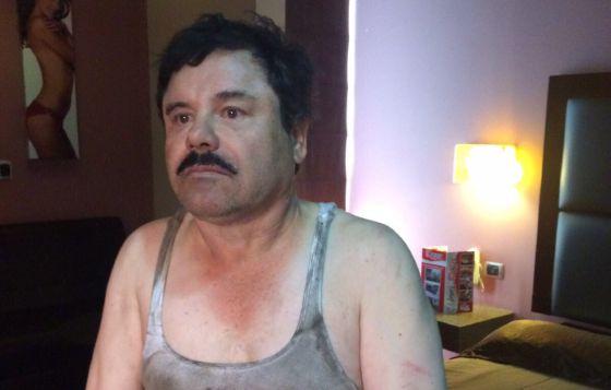El Chapo Guzmán, tras su detención este viernes