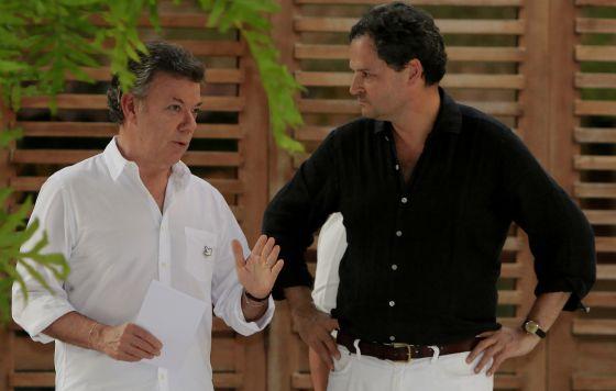 Santos conversa con Sergio Jaramillo