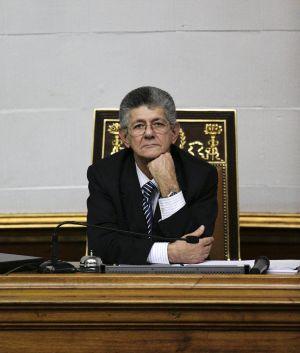 Henry Ramos Allup, en la Asamblea venezolana el 6 de enero.
