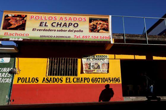 Una pollería en Badiraguato, localidad de origen del Chapo Guzmán