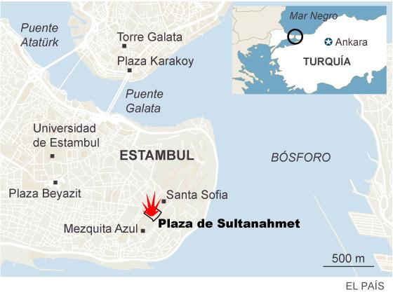 Turquía acusa al ISIS del atentado que ha causado 10 muertos en Estambul