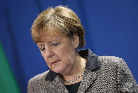 La canciller alemana, Angela Merkel, hoy en Berlín.