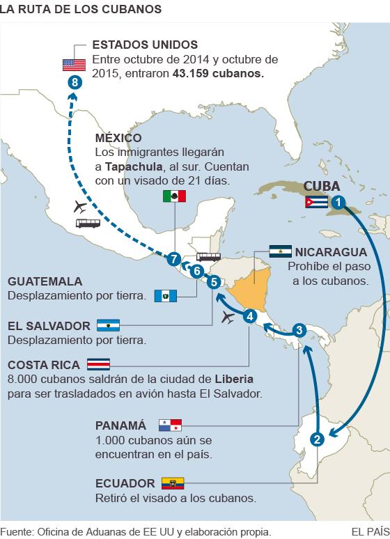 Los primeros cubanos salen de Costa Rica hacia Estados