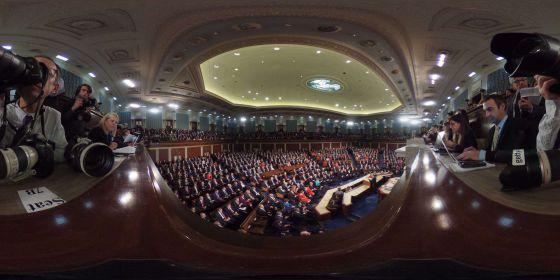 El Congreso de EE UU durante el discurso del estado de la Unión