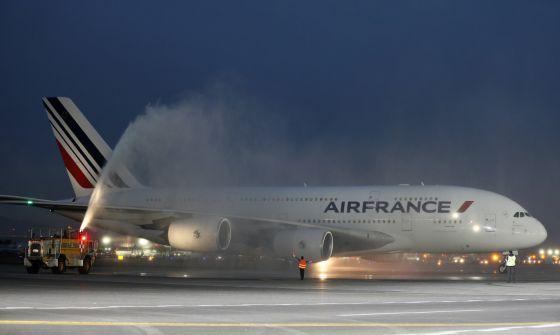 Vista del Airbus A380, el avión comercial más grande del mundo.