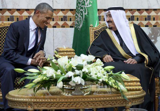Barack Obama y el rey Salmán, en Riad en enero de 2015.