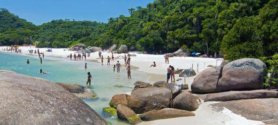 La playa de Campeche, en Florianópolis.