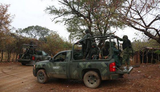 Militares en la comunidad del Salitre, México