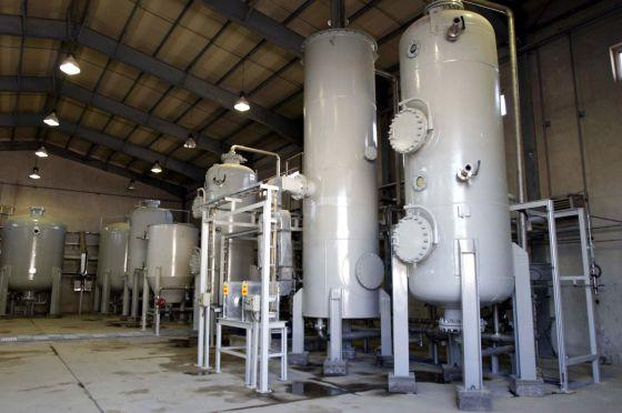 El interior de la planta de Arak, fotografiado en 2004.