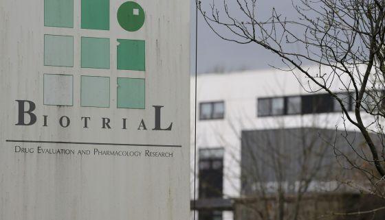 Entrada del laboratorio Biotrial en Rennes.