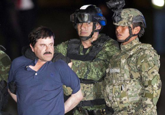 El Chapo, exhibido ante los medios tras su captura