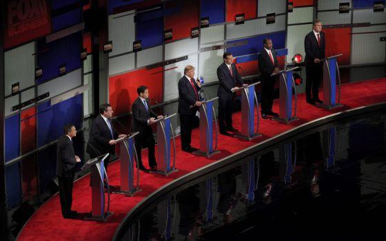 Los siete participantes en el debate de North Charleston