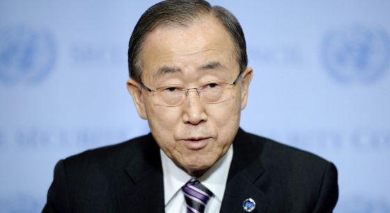 El secretario general de la ONU, Ban Ki-moon, el 6 de enero en Nueva York.