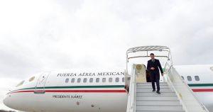 Peña Nieto llega a París en el avión Benito Juárez.