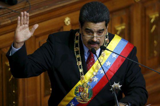 Nicolás Maduro, durante su discurso.