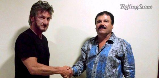 Sean Penn con El Chapo Guzmán.
