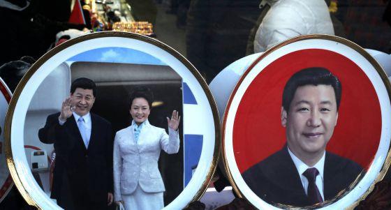 Souvenirs de Xi Jinping en Pekín.