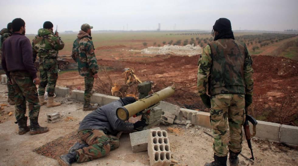 Fuerzas del régimen, en la localidad siria de El Bab