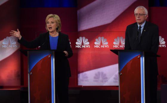 Clinton y Sanders, en el debate de este domingo