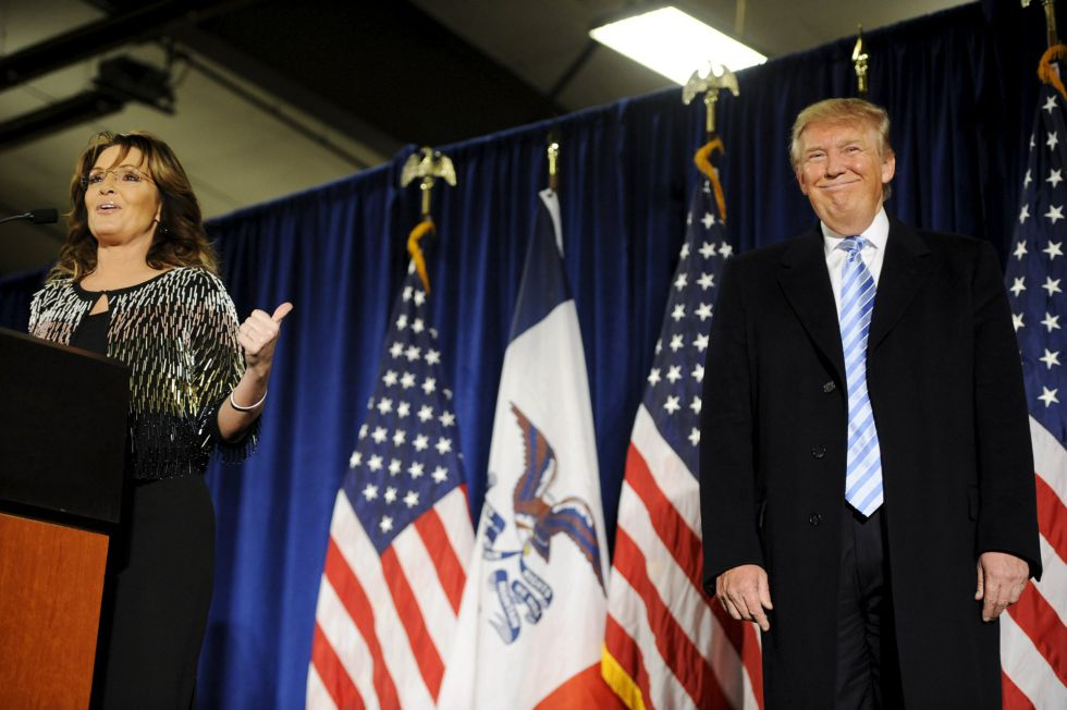 Sarah Palin y Donald Trump